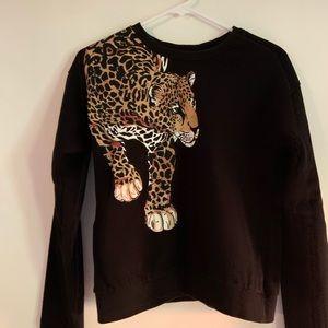 ASOS leopard sweatshirt size M